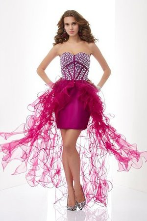 Abito Homecoming Cuore in Tulle Naturale Corto in Raso Satin Elastico