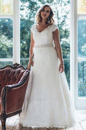 fa5fbb908c02 Abito da Sposa A Terra Grande Spazzola Treno con Perline Stravagante