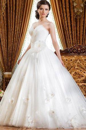 Abito da Sposa Ball Gown con Fiore A Terra in Tulle Naturale 74284b2d2bb