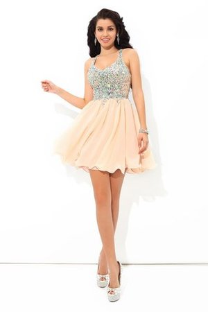 Abito da Cocktail Conotta Naturale in Chiffon A-Line Mini