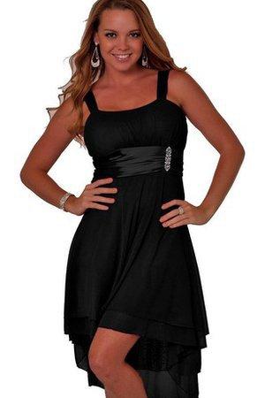 f8183cca2236 Vestito Laurea Senza Maniche in Chiffon Cerniera Alta Bassa Alta Vita