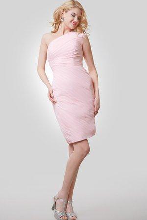 6dddf763b91e Vestito Laurea Asimmetrici con Increspato con Piega Semplice con  Increspature