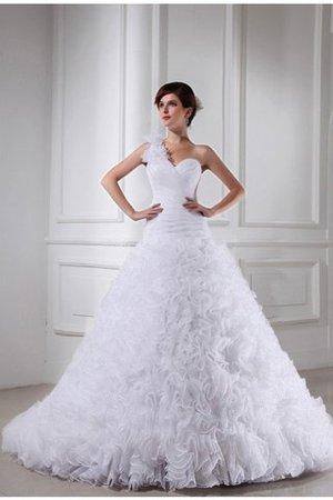 Abito da Sposa con Perline Ball Gown Alta Vita Coda A Strascico Cappella  Lungo 901acf697b7