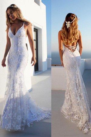 b15be42c7deb Abito da sposa favola alla moda lusso v-scollo alternativo senza maniche